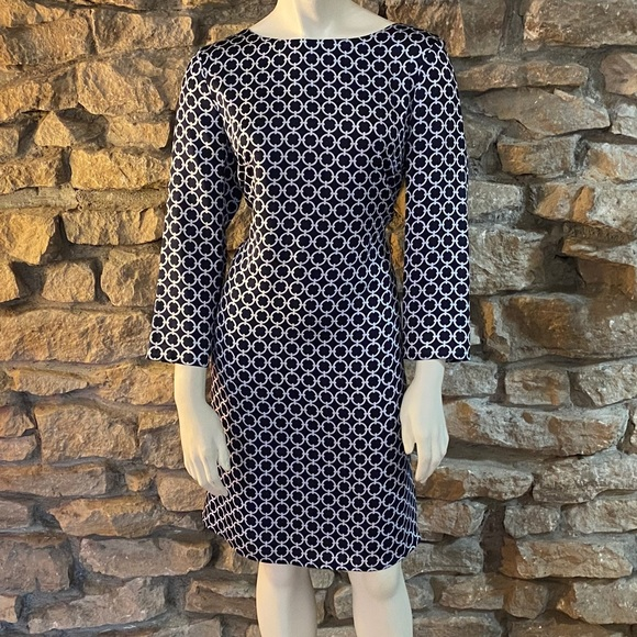 Brooks Brothers Dresses & Skirts - Brooks Brothers Silk Dress Navy / Printed Size 6